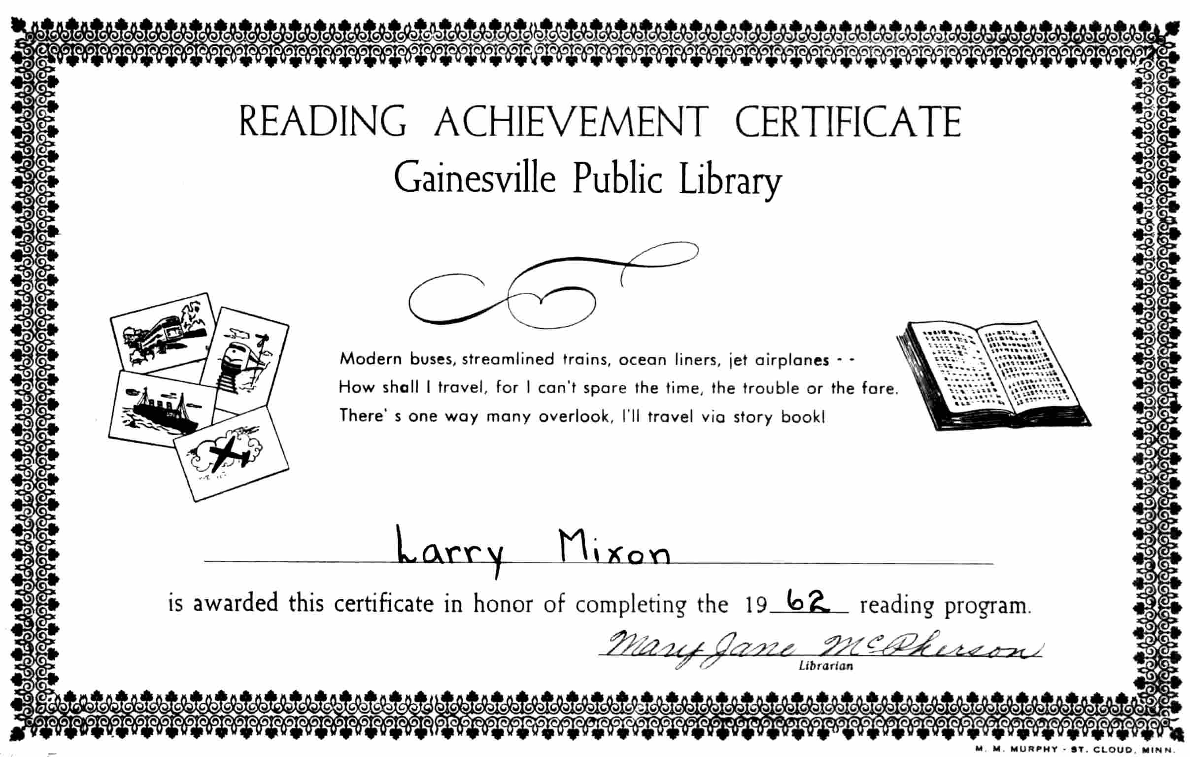 Lm1962 documents sunday school promotion public library reading certificate 1betcityfo Choice Image
